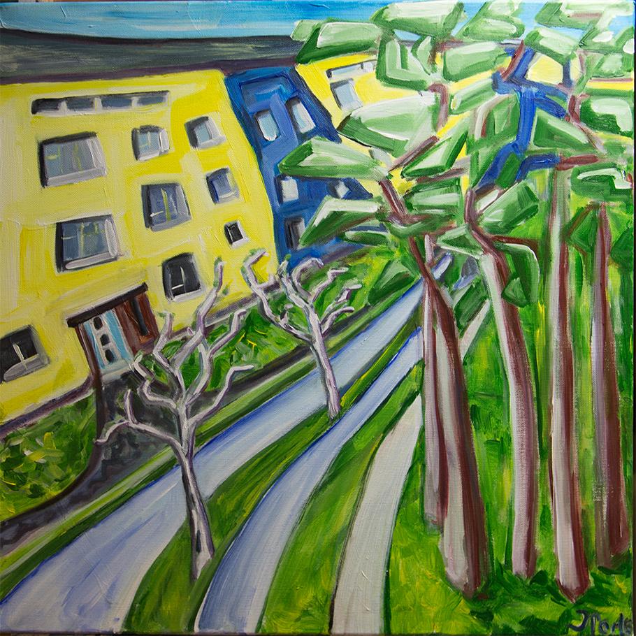 Argentinische Allee original painting by Judith Marder